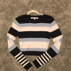Lovers and Friends striped sweater crop